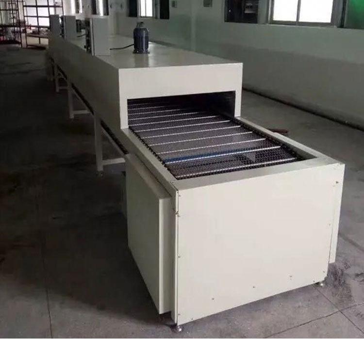 江苏隧道炉特氟龙烤炉烘干机红外线产品表面喷涂线光油胶水网带线