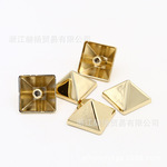 Manufacturers supply high-quality electroplated shoes, handbags, hardware fittings, pyramid decorative fittings, alloy rivets