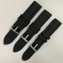 硅胶表带 防水防汗潜水户外运动通用橡胶针扣手表带20/22/24mm