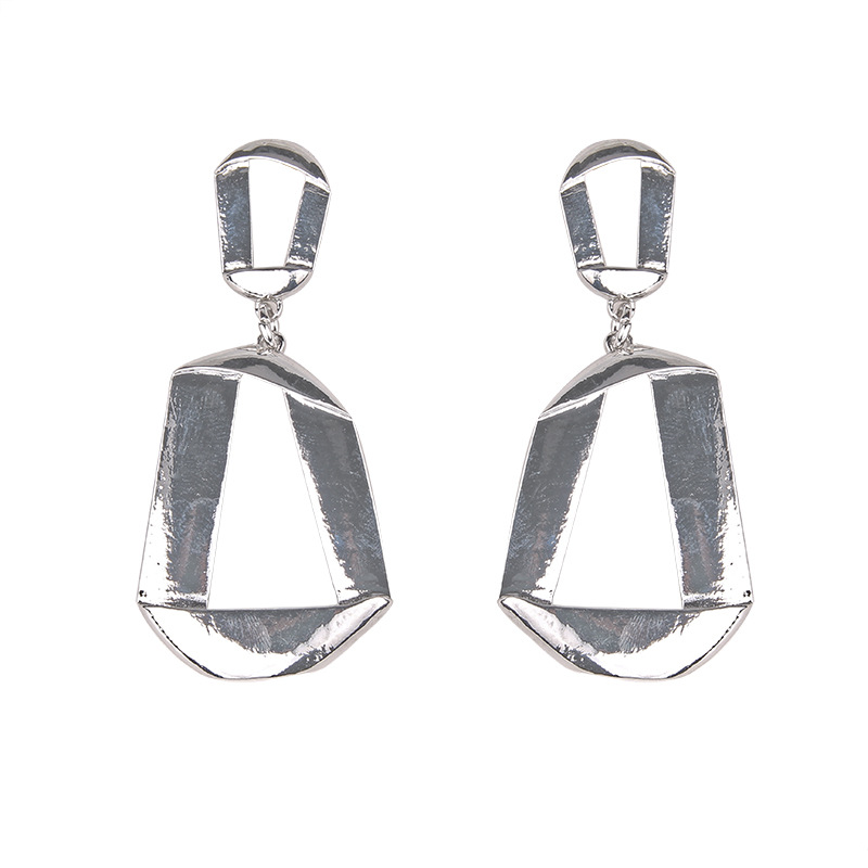 Alloy Simple Geometric earring  (Alloy) NHJQ10639-Alloy