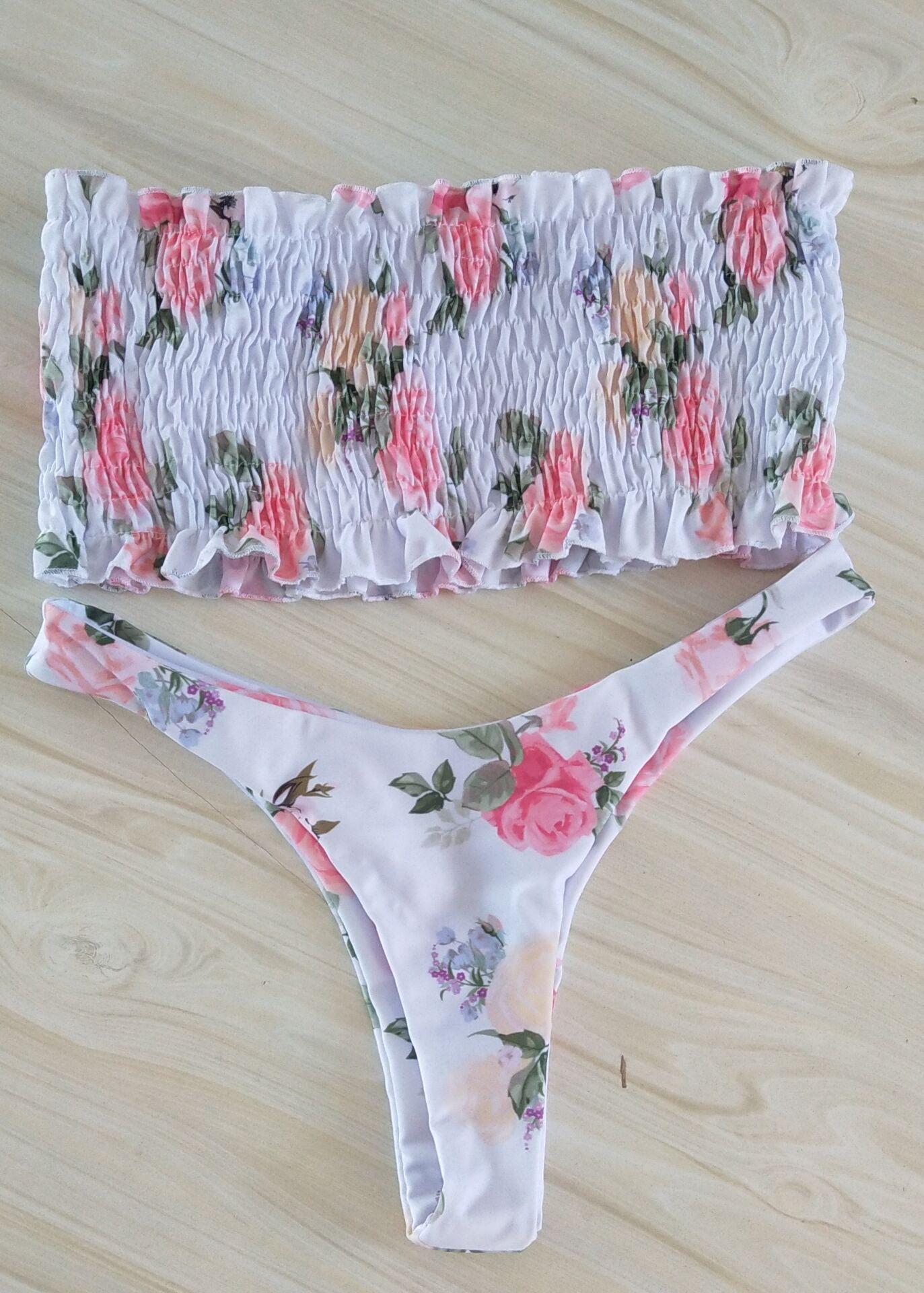 Fashion pleated bikini NHXJ147575