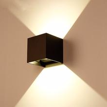 大量库存LED户外方形防水壁灯庭院可调光角度墙壁客厅背景墙灯具