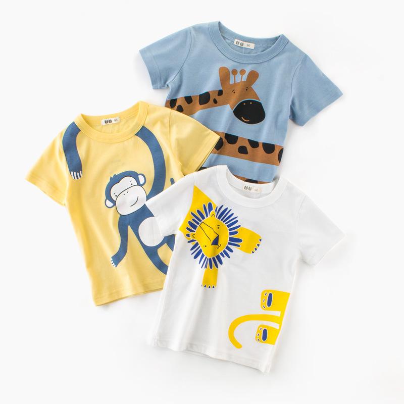 男童短袖T恤儿童半袖动物摆摊货源 2021夏季新款童装批发一件代发