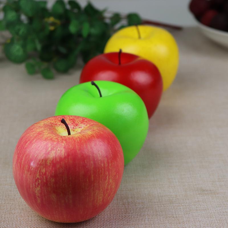 仿真红苹果 青苹果 仿真水果 假苹果模型 装饰 场地布置道具批发