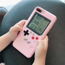 抖音神器怀旧游戏机手机壳X苹果7plus俄罗斯方块iPhone8网红ip6s
