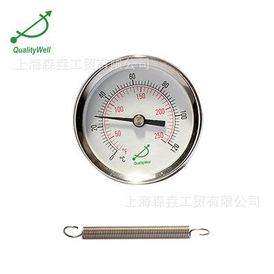 表面温度计带弹簧  表面温度计管道专用 表面温度计双金属