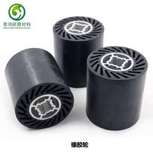 手提拉絲機膠鋁芯橡膠拋光輪砂布筒專用橡膠輪橡皮拉絲膠輪90*10