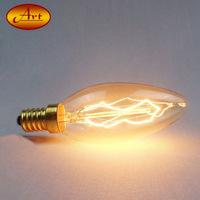 C35尖泡绕丝40W爱迪生复古钨丝灯泡 E14螺口调光玻璃蜡烛灯泡