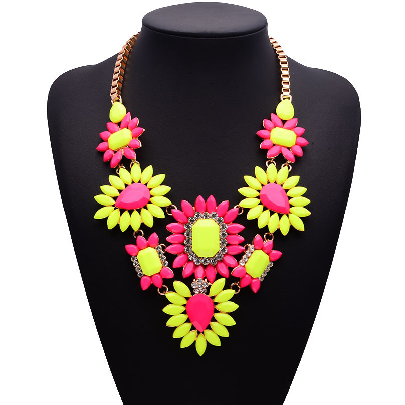 Alloy Bohemia Geometric necklace  Color one NHJQ10676Colorone