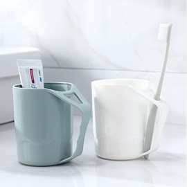 2844 Suya color brushing cup household plastic mug cup with handle couple tooth cylinder cup wash cup toothbrush cup