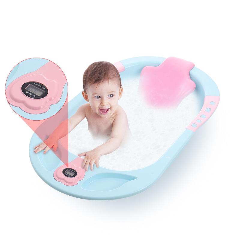 数显感温婴儿洗澡盆新生幼儿可坐躺大号宝宝超大儿童沐浴盆洗澡桶