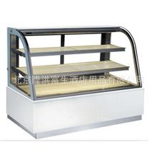 1.2米双弧形冷藏展示柜价格 三层 大理石蛋糕展示柜 非标定做