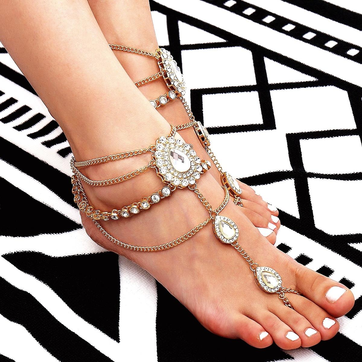 Alloy Fashion Geometric Ankle(Single gold) NHXR2391-Single-gold