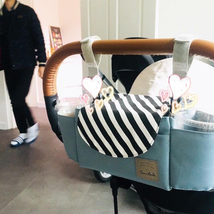 韩国新款婴儿推车挂袋配件妈咪收纳奶瓶挂钩储物收纳袋