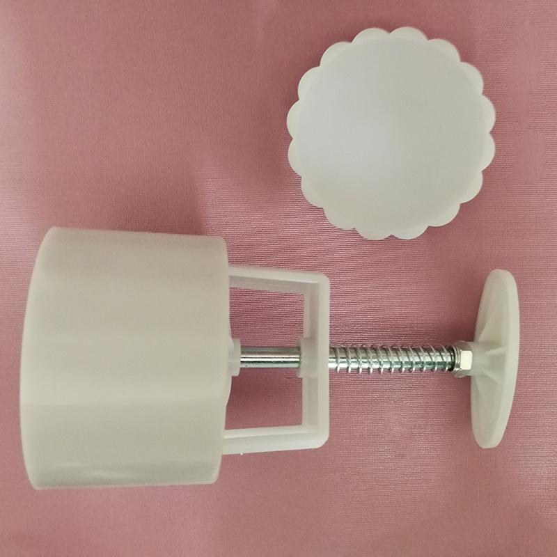 100g/125g圆形空白花片1模1片手压式月饼模具套装