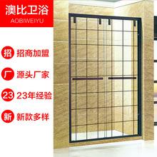 23年工厂直销不锈钢淋浴房,来尺定制,不锈钢型材配件批发