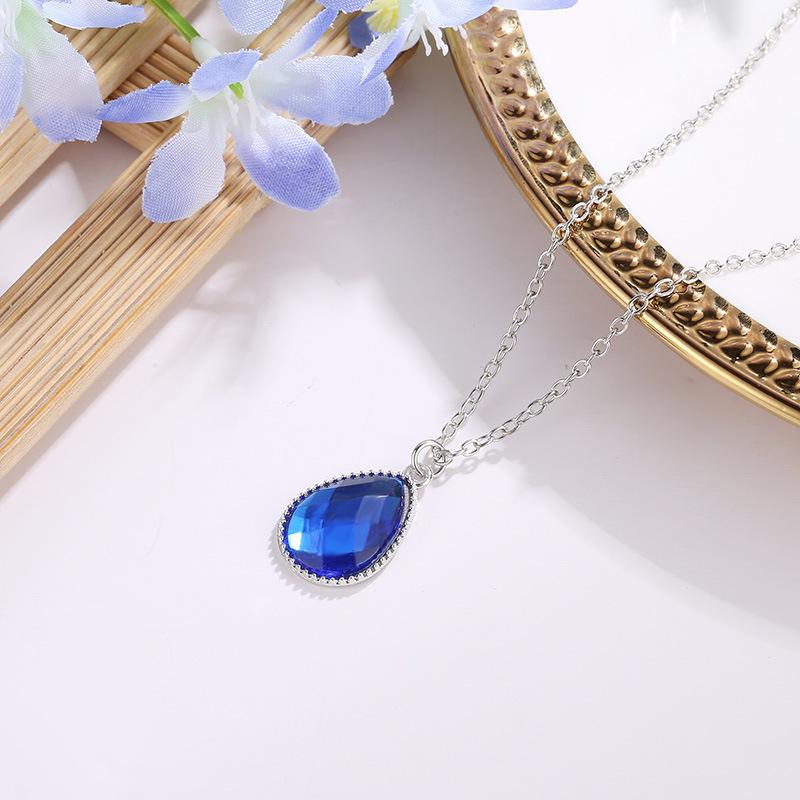 Necklace Fashion Simple Alloy Diamond Drop Drop Pendant Gemstone Clavicle Chain Wholesale NHDP178270