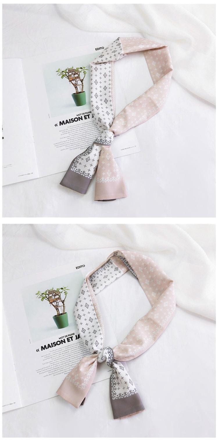 Bufanda y bufandas de cuello plano que bloquean el color, nueva serpentina de cinta coreana para mujer NHMN195182