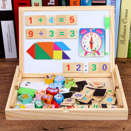 Magnetic puzzle children's educational toys 1-3-6 years old boy girl baby early childhood children's wooden spelling music