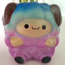 4月爆款仿真Squishy星空绵羊 慢回弹PU彩色动物减压玩具厂家直销