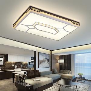 2018新款客厅灯长方形吸顶灯现代简约创意LED卧室灯具铁艺餐厅灯
