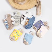 一盒4双春季盒装儿童袜子  薄款男女宝宝隐形卡通船袜厂家批发