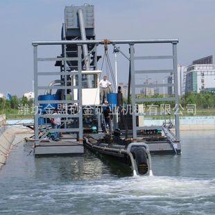 黑龙江抽沙船订做 黑龙江大庆中小型8寸射流式抽沙船船体尺寸