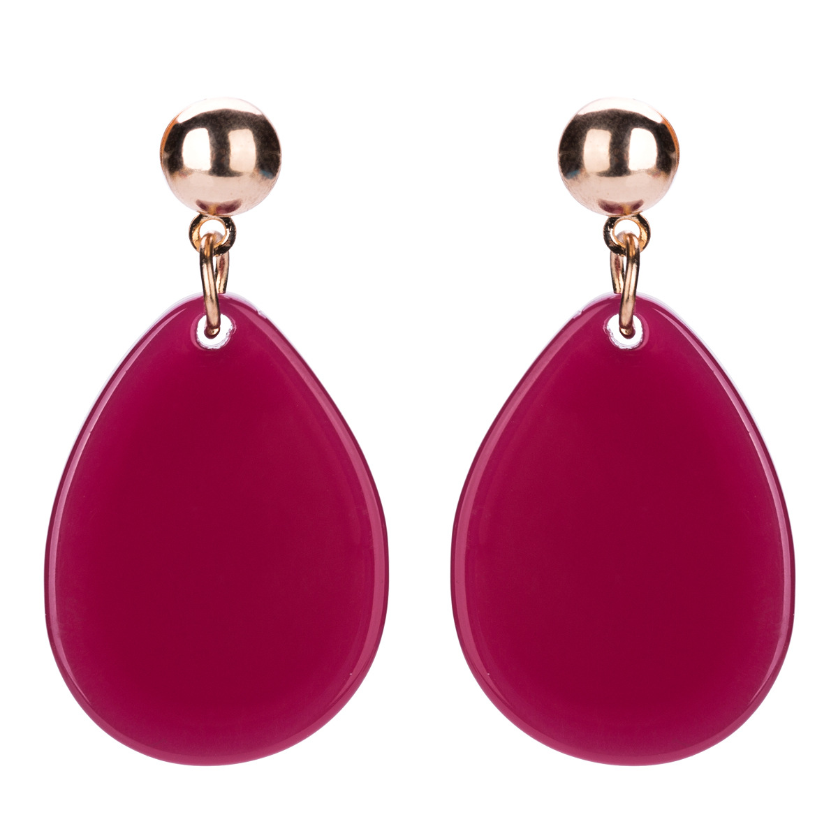 Alloy Fashion Geometric earring(red) NHJE1284-red