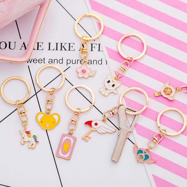 卡通少女心钥匙扣女韩国创意可爱钥匙圈环 可爱简约饰品钥匙链