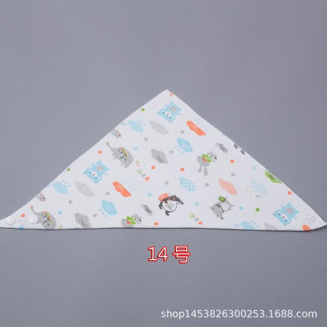Khăn tam giác em bé nước bọt trẻ em cotton hai lớp snap không thấm nước sơ sinh yếm trẻ em khăn màu tùy chọn Yếm yếm