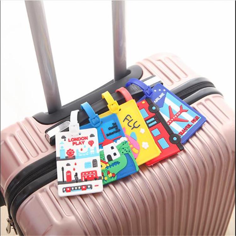 PVC软胶行李箱绑带吊牌 行李标签 整理标签