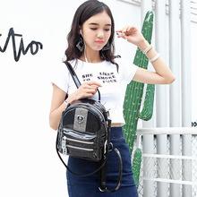 2018新款真皮雙肩包時尚個性魅力荔枝紋雙肩背包韓版亮面女生背包