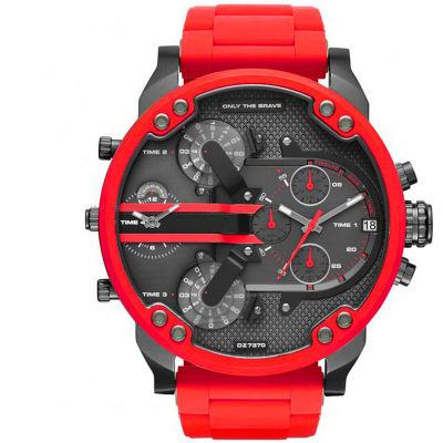 Đồng hồ DZ Brazil Châu Âu và Mỹ bảng đỏ Quay số lớn ngoại thương đồng hồ nam nóng bỏng thạch anh 7370 đồng hồ thể thao