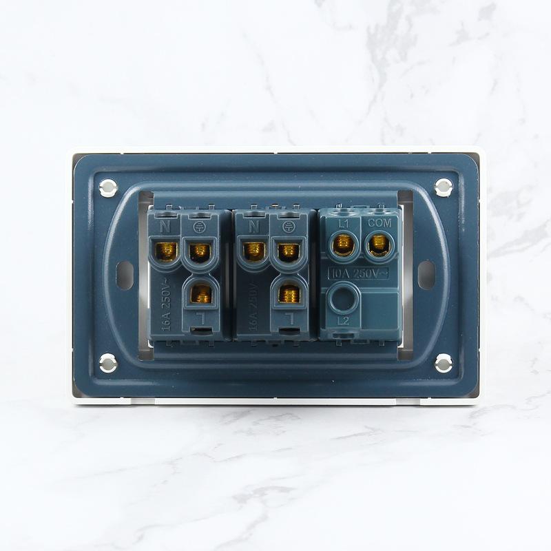 二位意標插座帶開關兩位意大利插座兩開單控雙聯意式插座雙開雙控