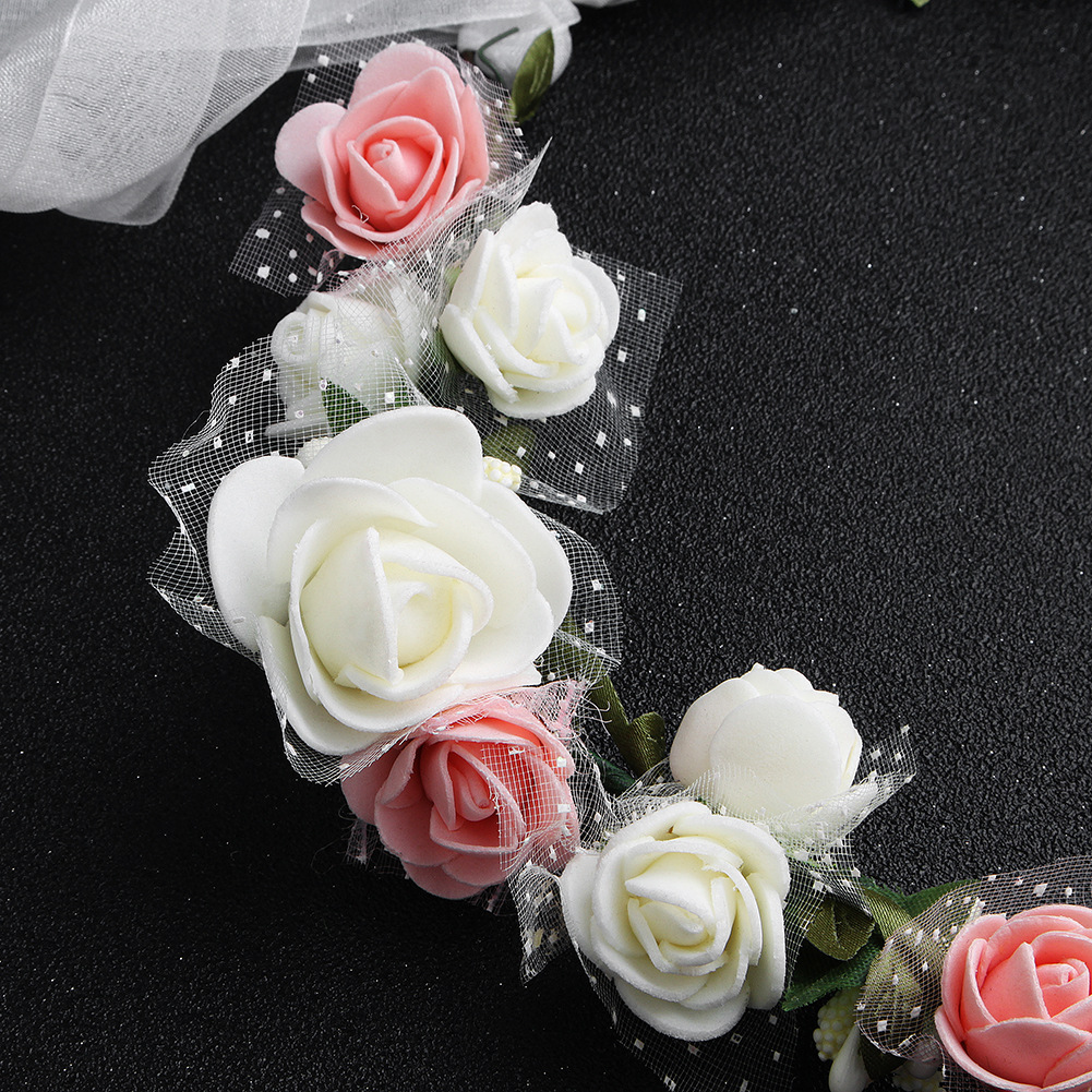 Cloth Simple Flowers Hair accessories  (white) NHHS0426-white