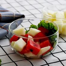 玻璃碗创意家用透明北欧小碗简约水果沙拉碗酸奶冰淇淋碗甜品碗
