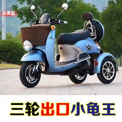 厂家直销新款成人电动三轮车双老年人休闲女式代步车48V60V小龟王