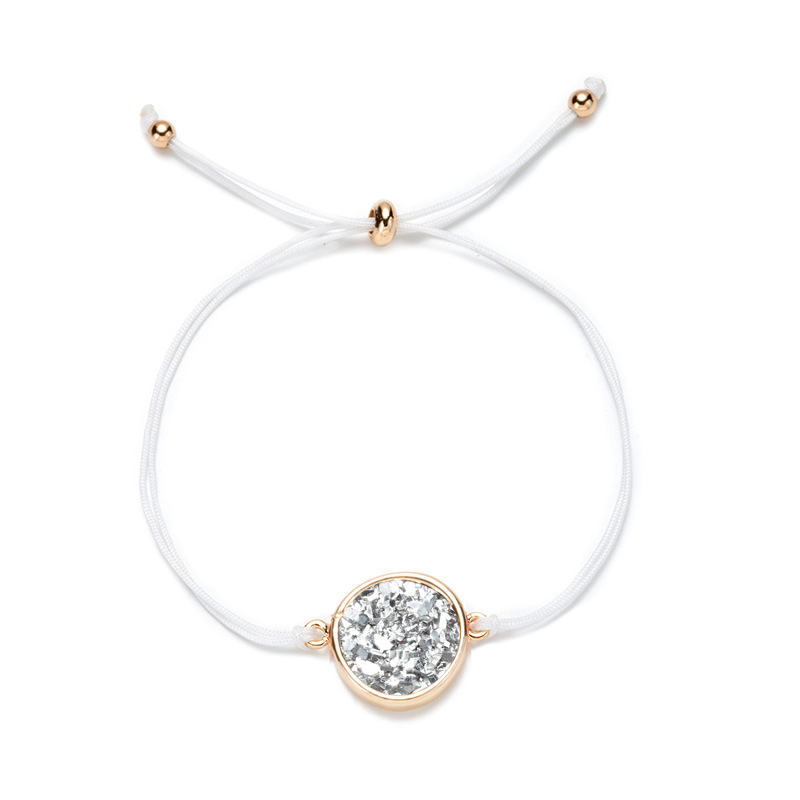hotselling golden round color rope womens resin natural stone alloy bracelet  NHAN252599
