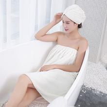 珊瑚絨吸水干發帽洗浴毛巾加大加厚浴帽快速白色干發巾包頭巾批發