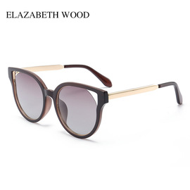 Classic women's polarized sunglasses fashion trend metal sunglasses color film sunglasses W7015