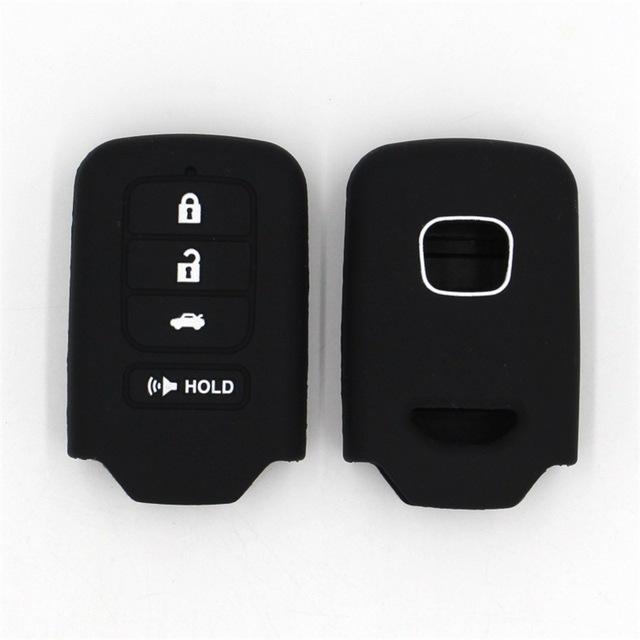 本田 HR-V 雅阁 思域多色环保无车标4键硅胶汽车钥匙包 厂家现货