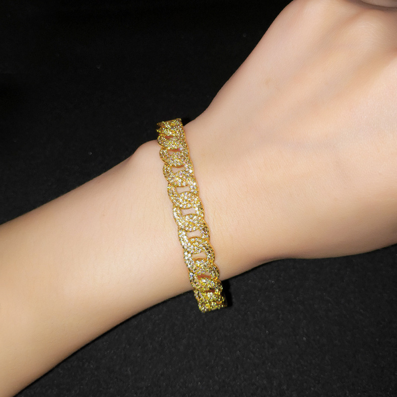 Copper Fashion Geometric bracelet  (18K alloy)  Fine Jewelry NHAS0384-18K-alloy