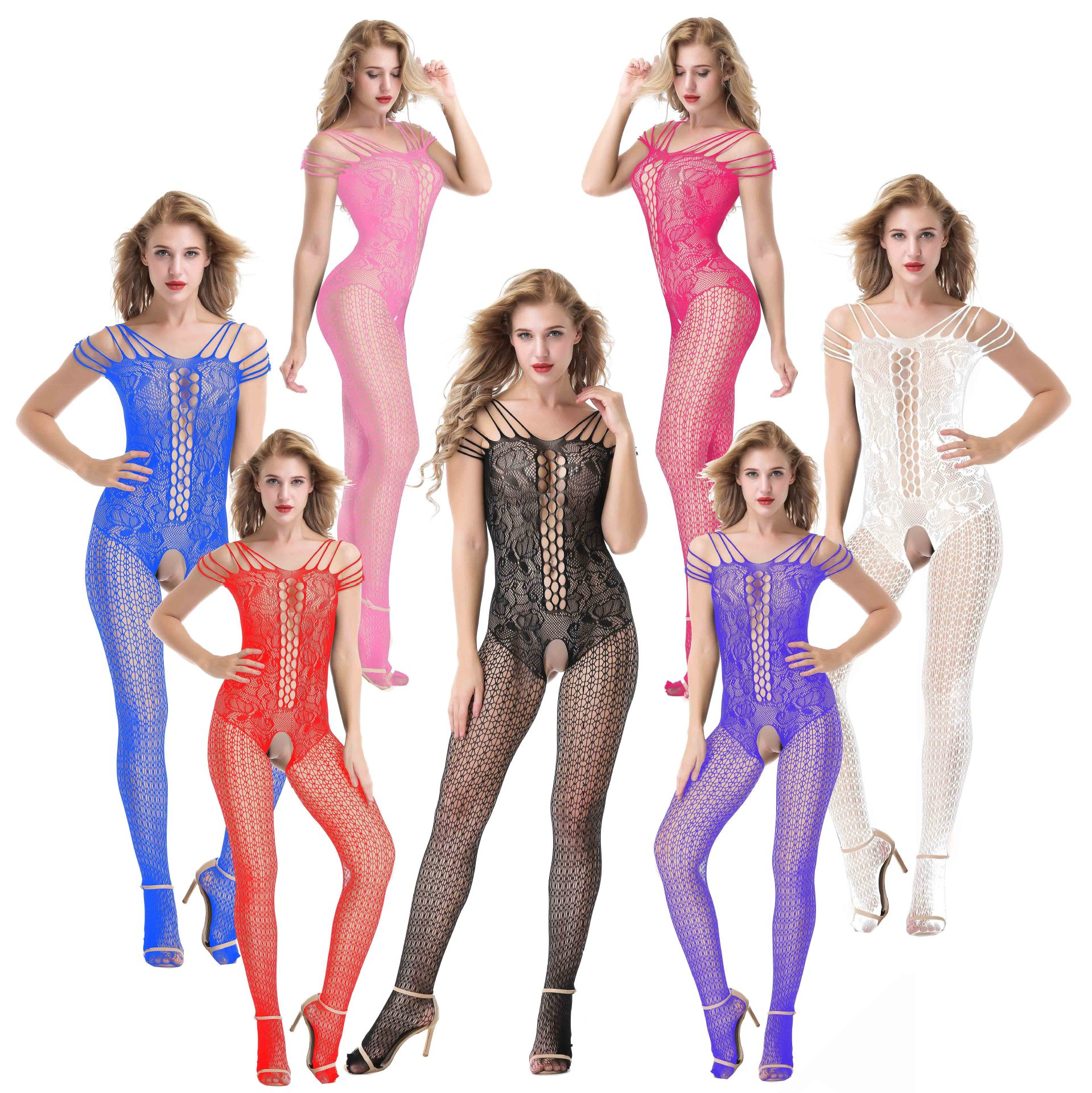 81e57c3070c Sexy Lingerie Crotchless Bodystocking Plus Size Open Crotch Teddy ...