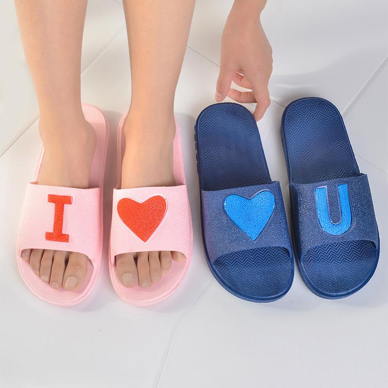 拖鞋女夏季时尚家居鞋情侣居家厚底防水漏水浴室防滑拖鞋清仓批发