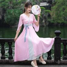 2018夏季新款 中国风 精美刺绣 汉元素飞飞袖超大摆仙女连衣裙