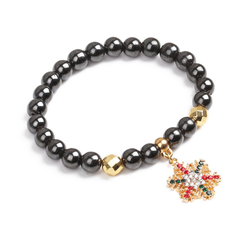 Alloy Fashion Geometric bracelet(Golden christmas tree) NHYL0370-Golden-christmas-tree