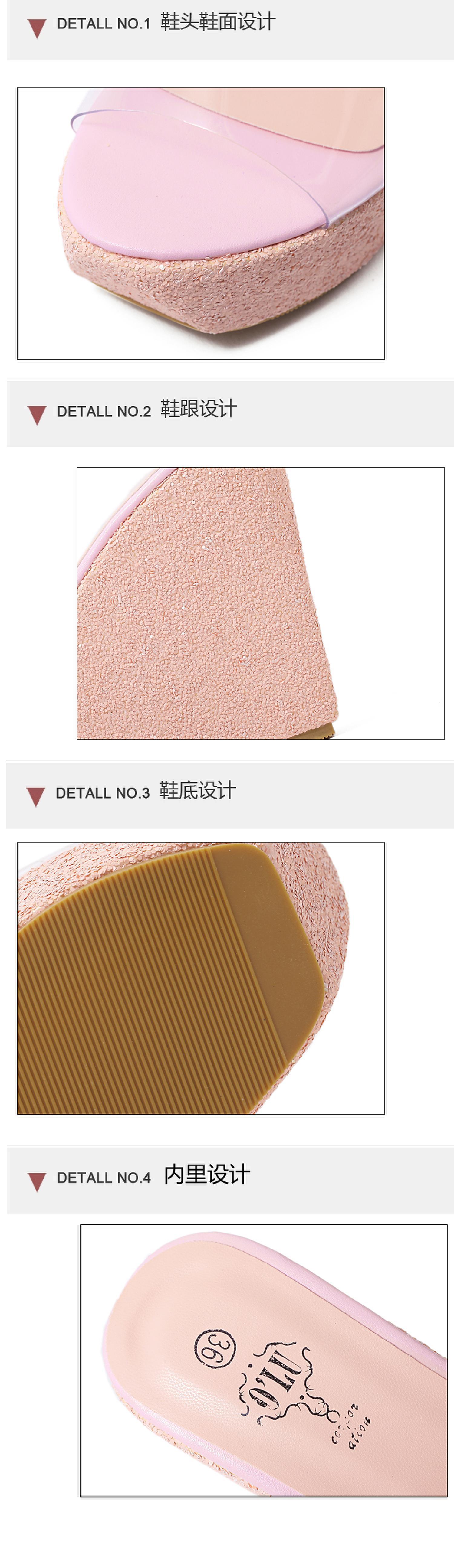 Nueva zapatilla de cuña transparente NHHU151812