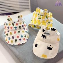 1-2岁男女儿童夏天遮阳帽子宝宝太阳帽防晒卡通鸭舌帽出游空顶帽