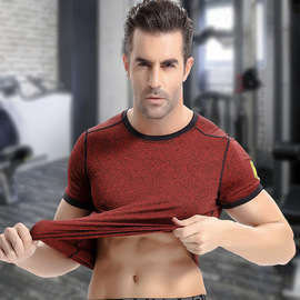 fitness clothing men's summer short-sleeved tight pro clothing casual training running sports quick-drying pants short sleeve
