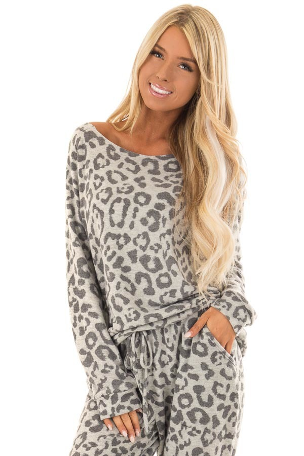 autumn new fashion leopard print one-shoulder casual suit NSYF18764